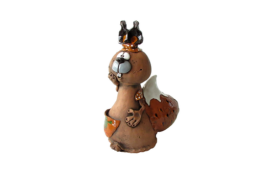 Ceramic Squirrel Big Money Bank