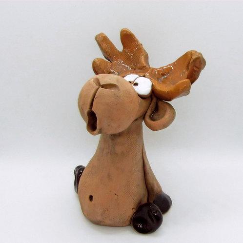 Ceramic Moose Figurine