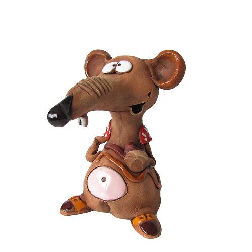 Ceramic Cheeky  Rat Incense Cone Burner