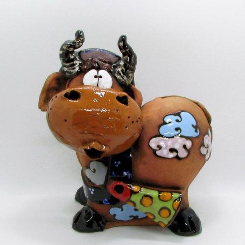 Ceramic Cow Large Ornament/Money Bank