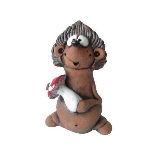 Ceramic Little Hedgehog Figurine