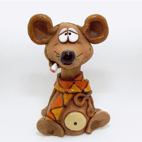 Ceramic Mouse Incense Cone Burner