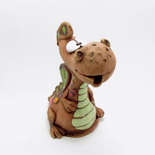 Ceramic Dragon Incense Cone Burner