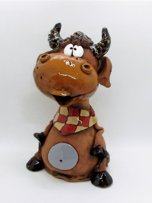 Ceramic Bull Large Ornament/Money Bank