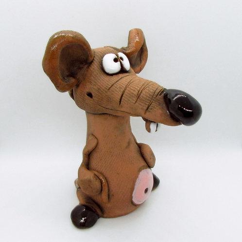 Ceramic Cheeky Rat Figurine