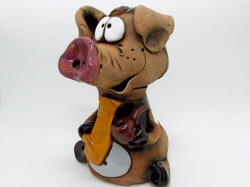 Ceramic Pig Incense cone Burner