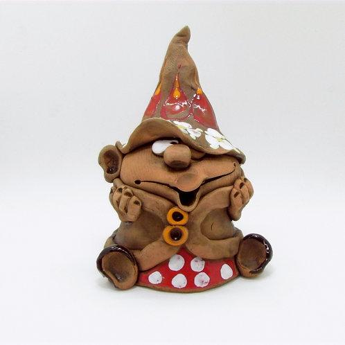 Ceramic Gnome Incense Cone Burner