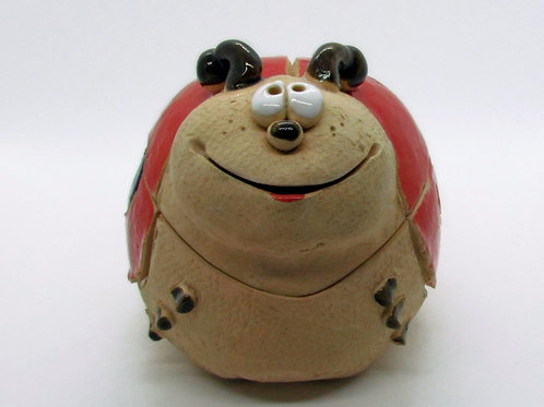 Ceramic Ladybird Figurine/Keepsake Box
