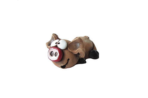 Ceramic Little Piglet Figurine