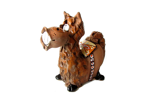 Ceramic Horse Big Money Bank
