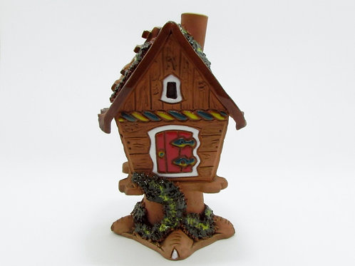 Ceramic Little House Incense Cone Burner