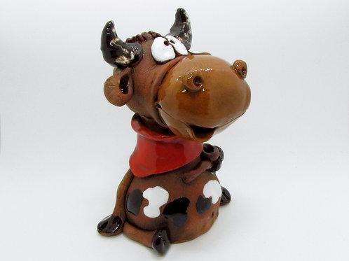 Ceramic Mighty Bull Incense Cone Burner