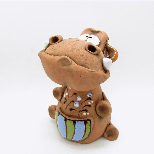 Ceramic Hippo Incense Cone Burner