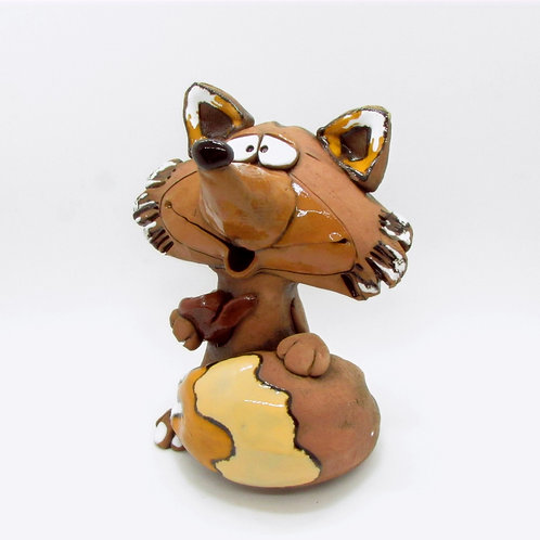 Ceramic Fox Incense Burner