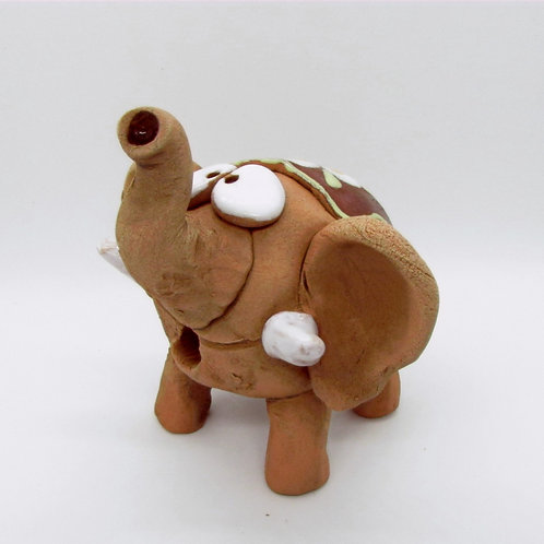 Ceramic Little Elephant Figurine