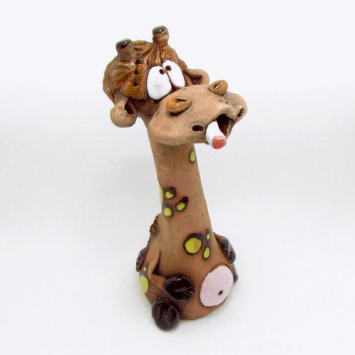 Ceramic Giraffe Incense Cone Burner