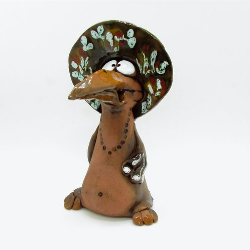 Ceramic Crow Incense Cone Burner