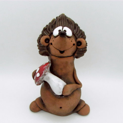 Ceramic Hedgehog  Figurine