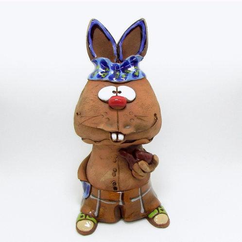 Ceramic Rabbit Incense Cone Burner