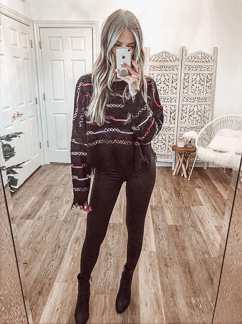 Talia Distressed Sweater