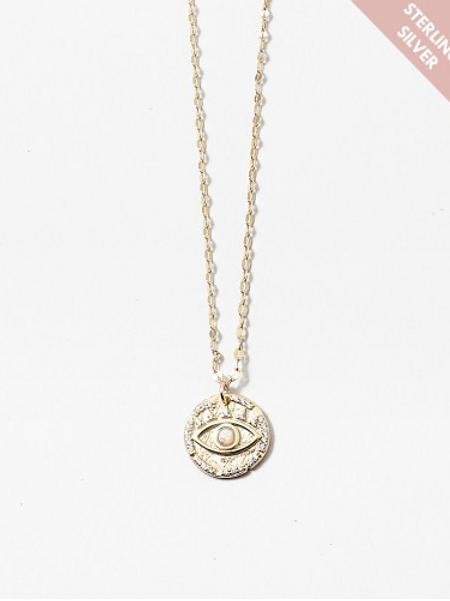 Opal Evil Eye Pendant Necklace