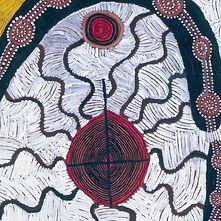Detail from Tjampitjinpa painting