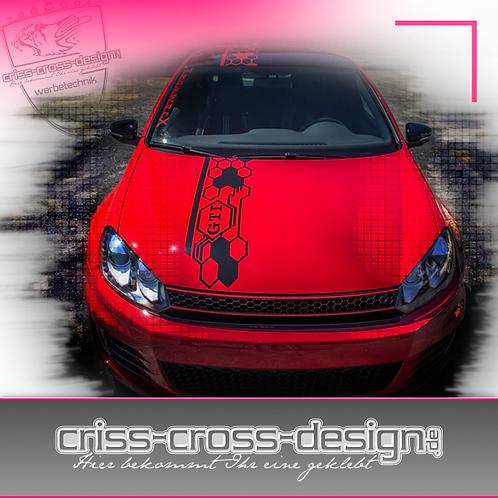 Wabenaufkleber Design 2014