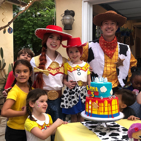Woody and Jessie Toy Story characters for parties in Los Angeles