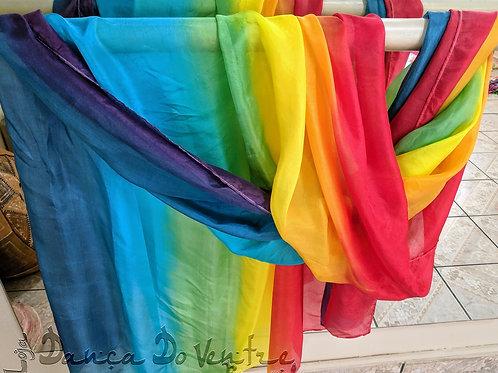 Véu de Seda Nacional - Arco íris Horizontal