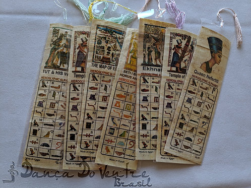 Marcador de Página - Papiro Importado Egito