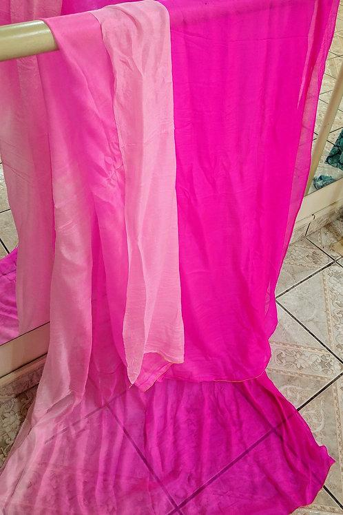 Véu de Seda - Importado - pink degradê
