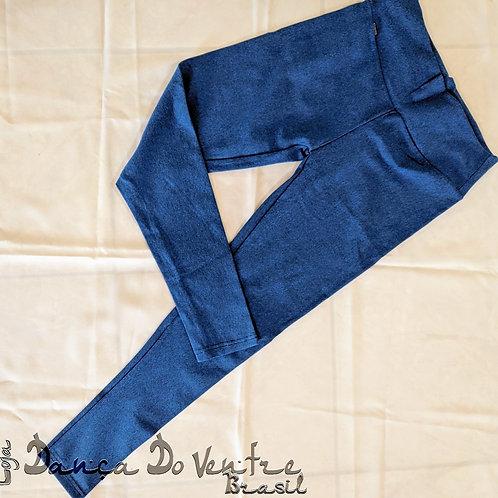 Calças Fitnes Algodão - Azul