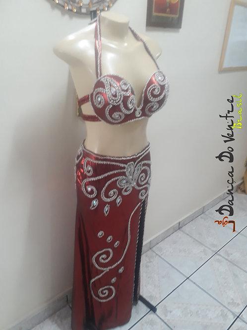 Conjunto Top/Saia Bordado Importado Egito