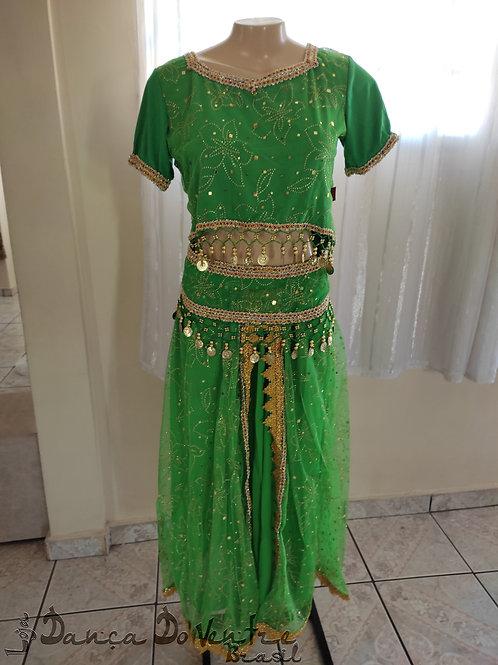 Conjunto Bollywood /Fusão - Verde
