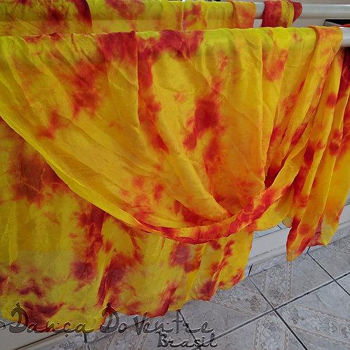 Véu de Seda - Importado - amarelo/laranja