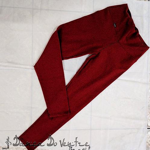 Calças Fitnes Algodão - Vermelha