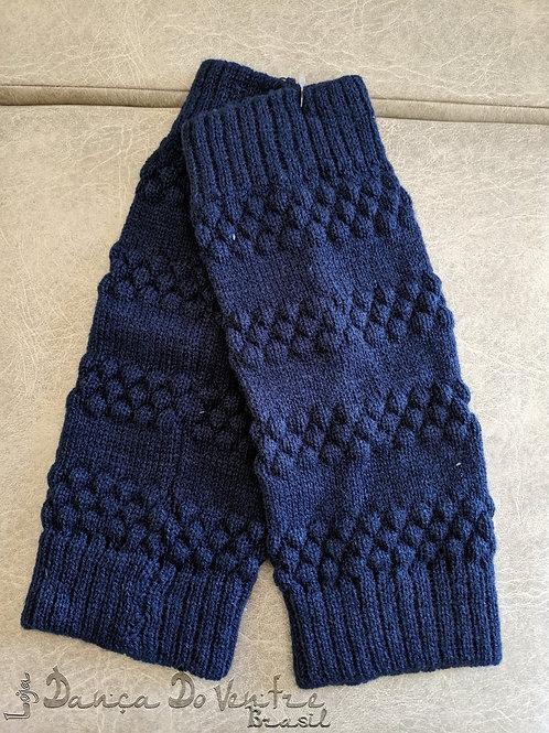 Polaina de lã - Artesanal - Azul