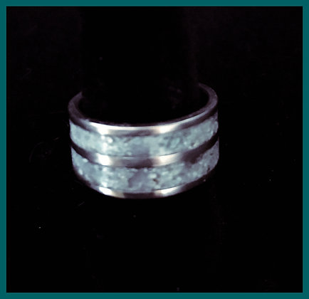Men's Turquoise Inlay Silver Ring