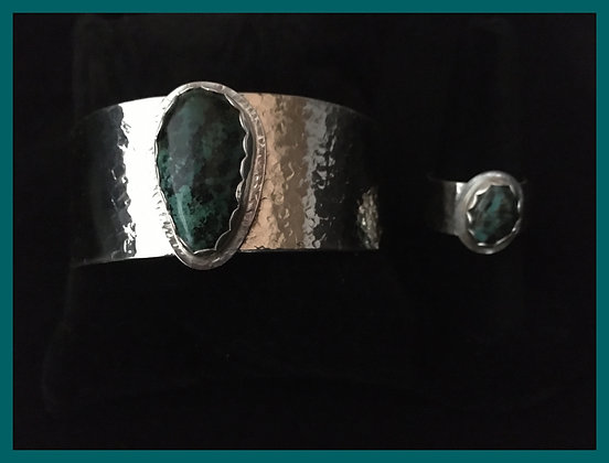 Silver Turquoise Bracelet and Ring Set