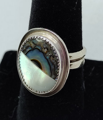 Mother of Pearl and Abalone Ring