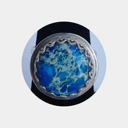 Blue Sea Jasper Ring