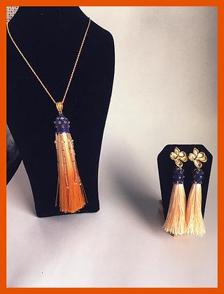 Tassel Pendant & Earring Set