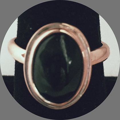 Black Onyx & Copper Ring