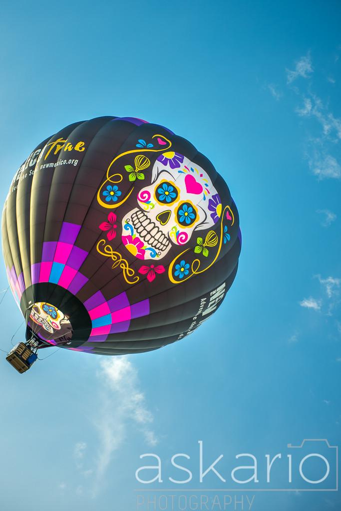 Dia De Los Muertos Hot Air Balloon