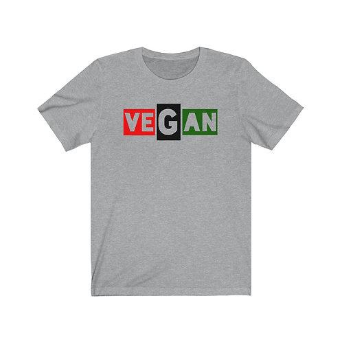 Red Black and Green Vegan T Shirt, Vegan Gifts, Funny Shirt, Plant Based