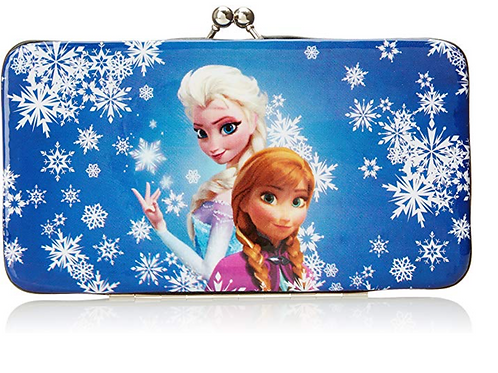 Frozen Sublimation Print Snowflake Kiss Lock Wallet