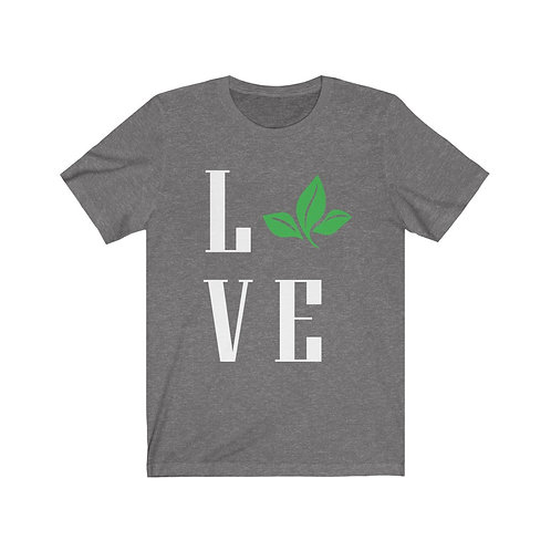 Leafy Love T Shirt, Vegan Gifts, Funny Tee Shirts, Plant Based, Birthday Gift