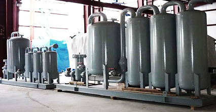 OIL REMOVAL - Coalescing and adsorption eliminate compressor oil prior to further processing