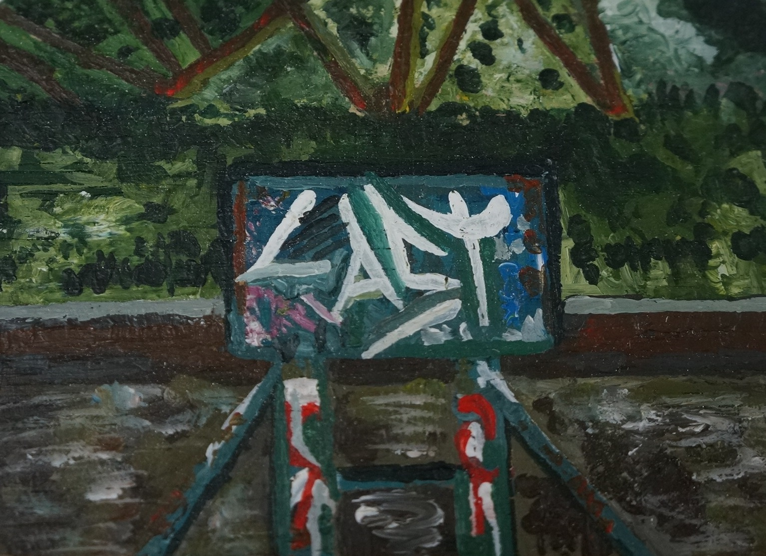 Graffiti by the Canal Side 2014