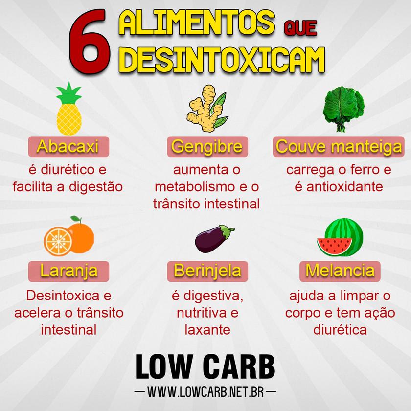 low carb: alimentos que desintoxicam